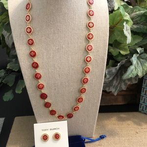 🛍Tory Burch Necklace & Earring Set 🛍